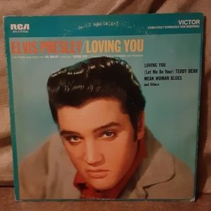 "Vintage Elvis Presley ""Loving You"" Vinyl LP Album"
